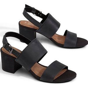 Black Leather Women's Poppy Sandals